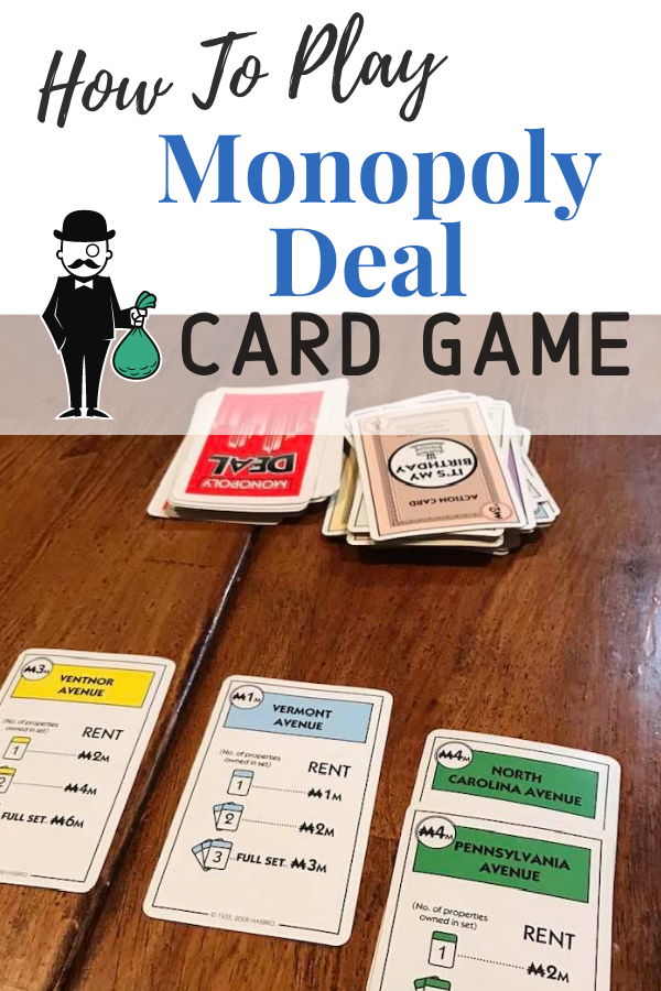 Monopoly Deal is a light, fun card game that takes about 15 minutes to play.  It is all about collecting properties and stealing from your opponents!